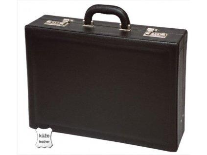 Pánský kožený kufr - černý