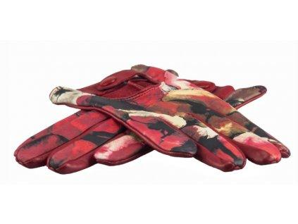 Bezpodšívkové kožené rukavice Bohemia gloves - červené