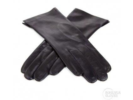Bezpodšívkové kožené rukavice Bohemia gloves - černé