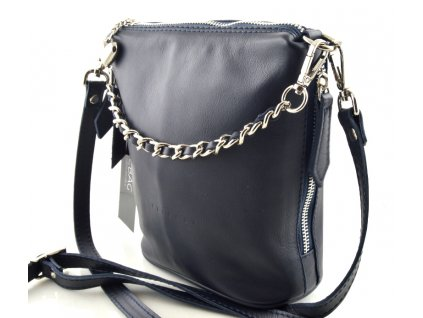 Elegantní kabelka FACEBAG - tmavě modrá