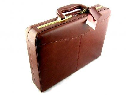 Pánský kožený kufr Sněžka Náchod - hnědý