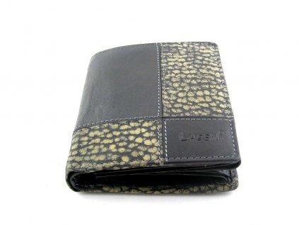 Kožená peněženka Lagen - černá vzor
