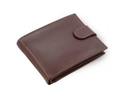 Kožená peněženka s přezkou Arwel - hnědá
