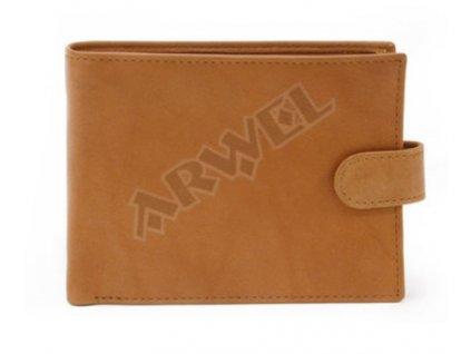 Pánská kožená peněženka s přezkou Arwel -koňaková