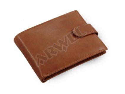 Pánská kožená peněženka s přezkou Arwel - hnědá
