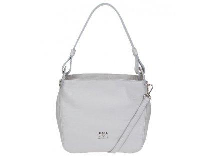 Malá kožená  kabelka Elega Casual šedá