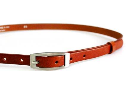 Hnědo rezavý úzký dámský opasek - Penny Belts