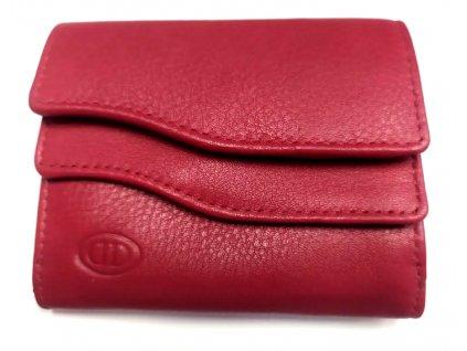 Mini kožená peněženka DD - červená