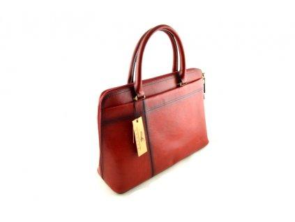 Kožená kabelka do ruky Katana -červená