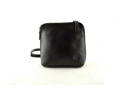 Kožená mini kabelka Katana - tmavě hnědá