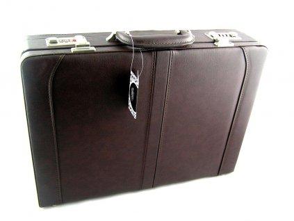 Pánský koženkový kufr Silvercase - tmavě hnědý