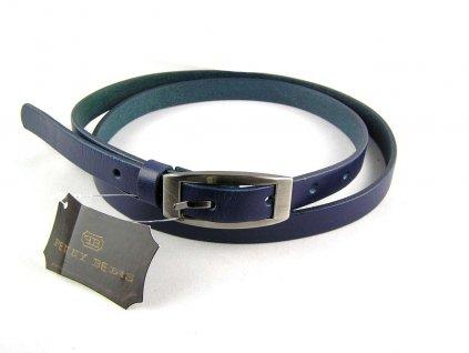 Modrý úzký dámský opasek - Penny Belts