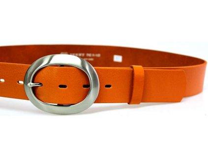 Oranžový kožený dámský opasek - Penny Belts