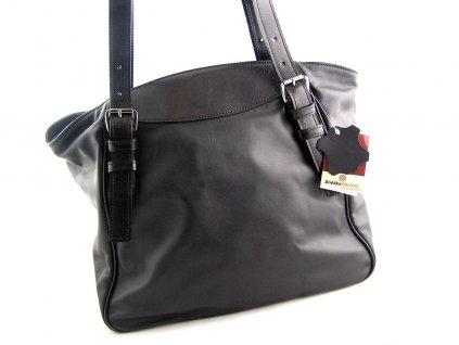 Měkká kožená kabelka Silvercase - černná