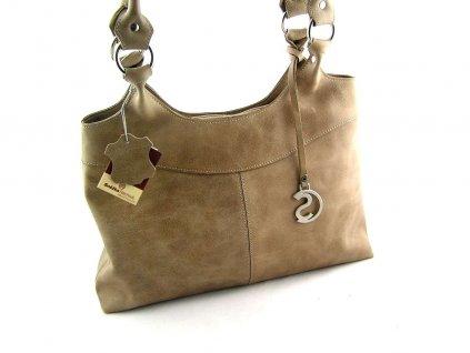 Kožená kabelka Silvercase - světle hnědá