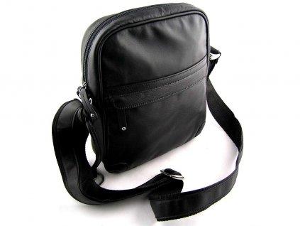 Kožená taška přes remeno Silvercase - černá
