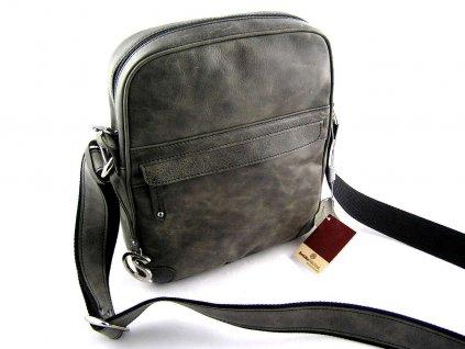 Kožená taška přes remeno Silvercase - khaki