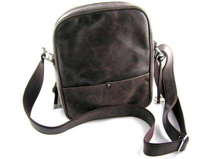 Kožená taška přes remeno Silvercase - hnědá