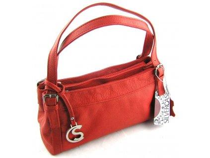 Červená menší kabelka - Silvercase