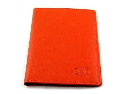 Kožená dokladovka DD - oranžová