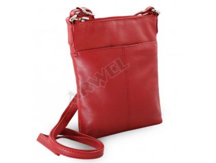 Kožená taštička Arwel - červená