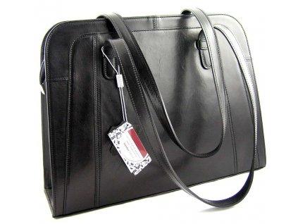 Velká manažerská kožená taška Silvercase - černá