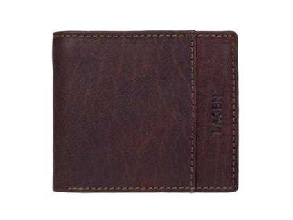 Luxusní pánská peněženka Lagen - tmavě hnědá