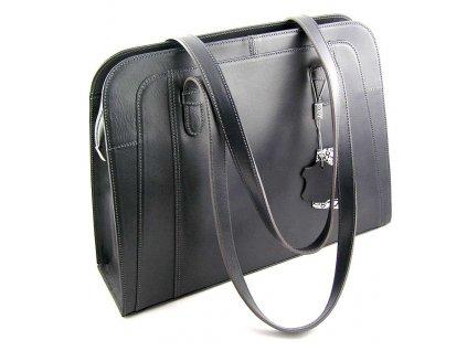 Velká manažerská kožená kabelka Silvercase - šedá