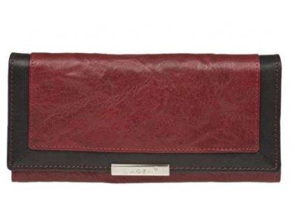 Luxusní kožená peněženka Lagen - červeno černá