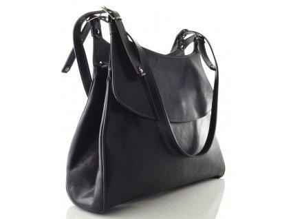 Elegantní kožená kabelka Silvercase - modrá