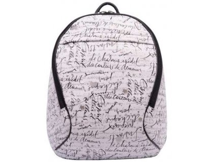 Dámský kožený batoh Hajn - bílo černý