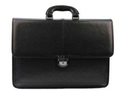 Luxusní manažerská kožená aktovka Silvercase - černá