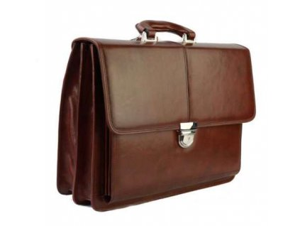 Luxusní manažerská kožená aktovka Silvercase - hnědá