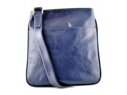 Kožená taštička Silvercase - tmavě modrá