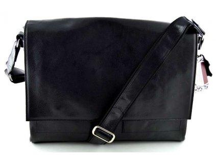 Klopnová taška přes remeno Silvercase - černá