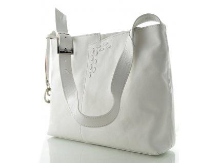 Kožená kabelka Silvercase - bílá