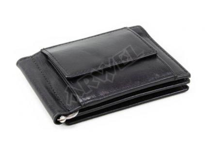 Kožená dolarovka Arwel - černá