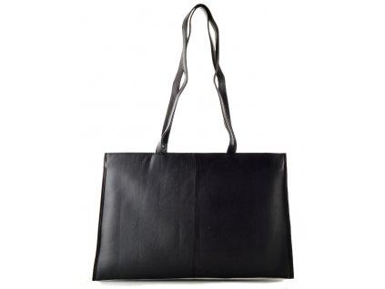 Kožená kabelka Arwel na spisy - černá