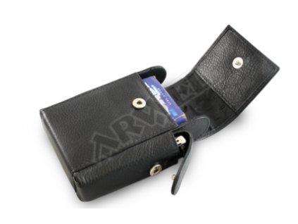 Kožené pouzdro na cigarety Arwel - černé