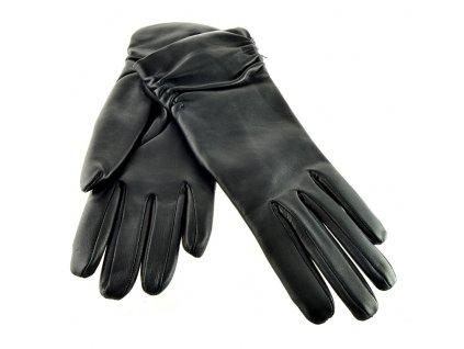 Dámské kožené rukavice Napa - černá