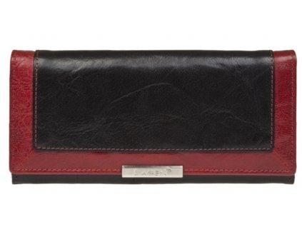 Kožená peněženka Lagen - černo červená