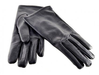 Pánské kožené rukavice - černé Napa