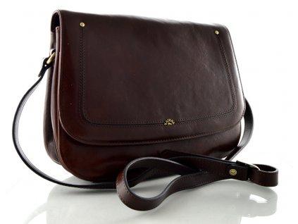 Klopnová kabelka Katana - hnědá