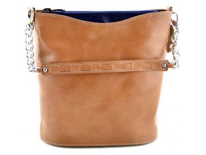 Malá elegantní kabelka Silvercase - hnědomodrá