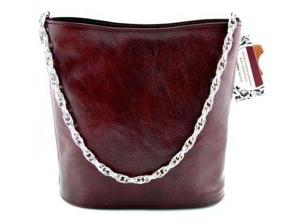 Malá elegantní kabelka Silvercase - vínová