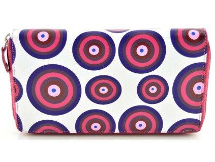 Kožená penálová peněženka - růžová