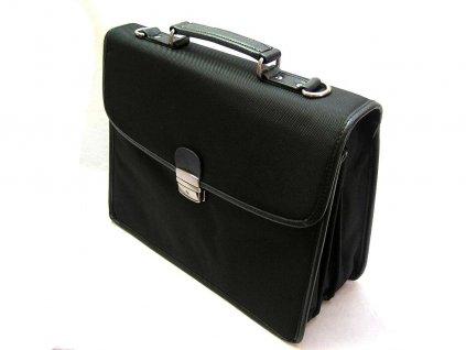 Textilní aktovka na notebook - černá