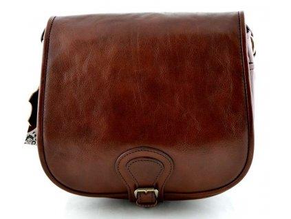 Klopnová lovecká kožená taška Silvercase - kaštanová