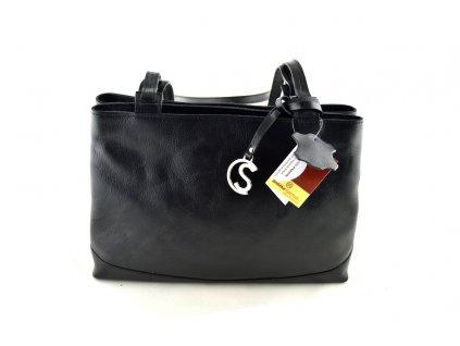 Dvojitá kožená kabelka Silvercase - oranžová