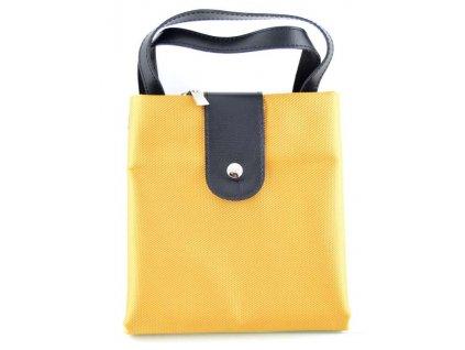 Pevná textilní taška - žlutá